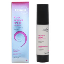 Element snail slime filtrate face day cream SPF 15 antiwrinkle antiaging