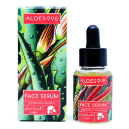 Face serum with aloe, hyaluronic acid antiaging antioxidant