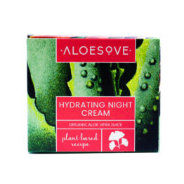 Moisturizing face night cream with aloe, nourishing, hydrating