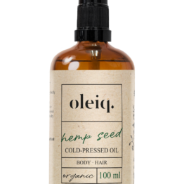 Cannabis Hemp Seed Oil, vegan oil skincare, bodycare, haircare oleiq
